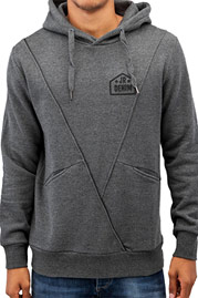 JUST RHYSE Triangle Hoody Charcoal Plain auf oboy.de