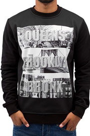 JUST RHYSE Queens Brooklyn Bronx Sweatshirt Black auf oboy.de