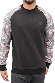 JUST RHYSE Flower Sweater Black auf oboy.de