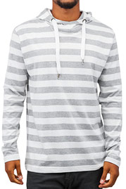 JUST RHYSE Stripes Hoody White/Grey auf oboy.de