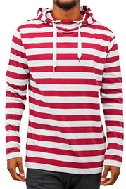 JUST RHYSE Stripes Hoody White/Red auf oboy.de