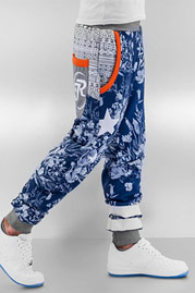 JUST RHYSE Flower Sweat Pants Grey Melange auf oboy.de