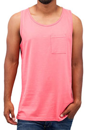 JUST RHYSE Breast Pocket Tank Top Rose auf oboy.de