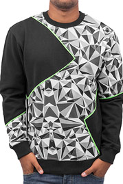 JUST RHYSE Triangle Sweatshirt Black auf oboy.de