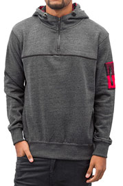 JUST RHYSE Checked Hoody Black auf oboy.de