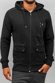 JUST RHYSE Zip Hoody Black auf oboy.de