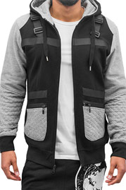 JUST RHYSE Shoulder Zip Hoody Black auf oboy.de