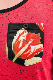 JUST RHYSE Flower Tank Top Red Melange auf oboy.de