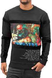 JUST RHYSE Still Life Sweatshirt Black auf oboy.de