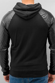 JUST RHYSE PU Zip Hoody Black auf oboy.de