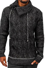 JUST RHYSE Knit Sweater Black auf oboy.de