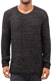 JUST RHYSE Knit Sweater Black/Antracite auf oboy.de