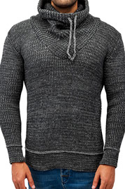 JUST RHYSE Rollneck II Sweater Anthracite auf oboy.de