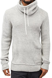 JUST RHYSE Knit Sweater Grey Bone auf oboy.de