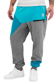JUST RHYSE Epic Sweat Pants Grey Turquoise auf oboy.de