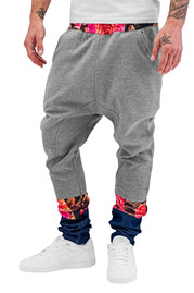 JUST RHYSE Denim Flower Sweat Pants Grey auf oboy.de