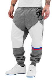 JUST RHYSE Pio Sweat Pants Grey/White auf oboy.de