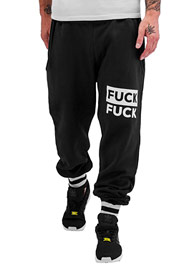 JUST RHYSE Fuck Sweat Pants Black auf oboy.de