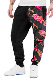 JUST RHYSE Roses Sweat Pants Black auf oboy.de