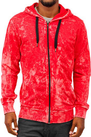 JUST RHYSE Acid Zip Hoody Red auf oboy.de