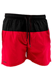 JUST RHYSE Swim Shorts Black/Red auf oboy.de