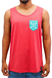 JUST RHYSE Summer Tank Top Light Red Melange auf oboy.de
