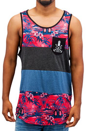 JUST RHYSE Palms Tank Top Colored auf oboy.de