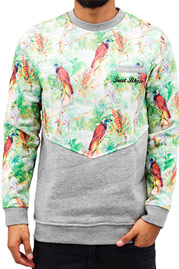 JUST RHYSE Birds Sweatshirt Grey auf oboy.de