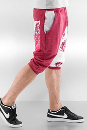 JUST RHYSE Palms Shorts Red auf oboy.de