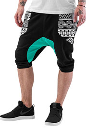 JUST RHYSE Aztecs Shorts Green auf oboy.de