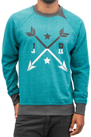 JUST RHYSE Arrow Sweatshirt Turquoise/Grey auf oboy.de