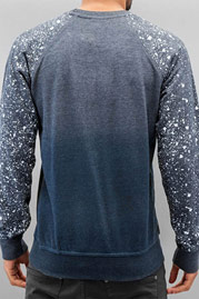 JUST RHYSE Paint Splatter Sweatshirt Black auf oboy.de