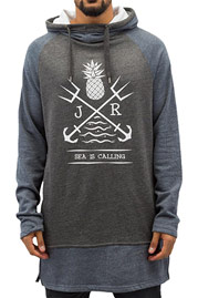 JUST RHYSE Sea Is Calling Hoody Grey/Black auf oboy.de