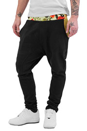 JUST RHYSE Flower Sweat Pants Black auf oboy.de