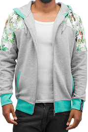 JUST RHYSE Birds Zip Hoody Grey auf oboy.de