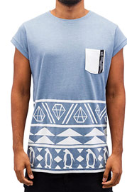 JUST RHYSE Rusty T-Shirt Blue auf oboy.de