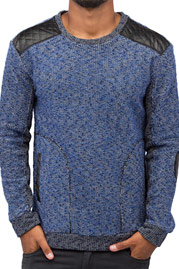 JUST RHYSE PU Sweatshirt Blue auf oboy.de