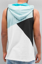 JUST RHYSE Hooded Tank Top Turquoise/Black/White auf oboy.de