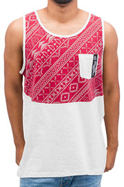 JUST RHYSE Pattern Tank Top Burgundy/Grey auf oboy.de