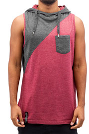 JUST RHYSE David Hooded Tank Top Burgundy auf oboy.de
