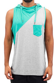 JUST RHYSE Robert Hooded Tank Top Grey auf oboy.de