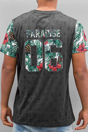 JUST RHYSE Paradise T-Shirt Black auf oboy.de
