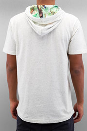 JUST RHYSE Richard Hooded T-Shirt White/Green auf oboy.de