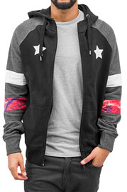 JUST RHYSE Toulon Zip Hoody Black auf oboy.de