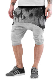 JUST RHYSE Palms II Sweat Shorts Grey auf oboy.de