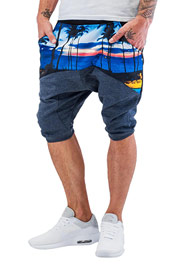 JUST RHYSE Palms Sweat Shorts Eclipse Melange auf oboy.de