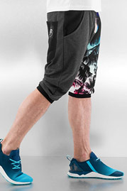 JUST RHYSE Sweat Shorts Black auf oboy.de