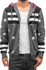 JUST RHYSE Star Zip Hoodies Anthracite auf oboy.de