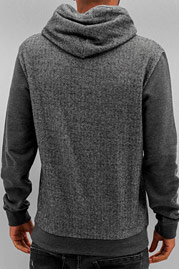 JUST RHYSE Sit Down Hoody Black Chambray auf oboy.de