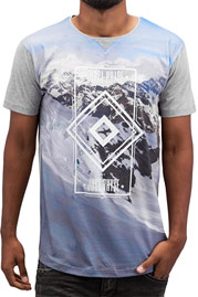 JUST RHYSE Mountains T-Shirt Light Grey auf oboy.de